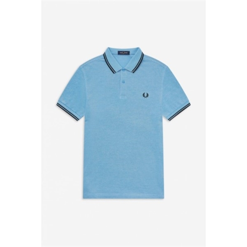 Fred Perry twin tip polo lyseblå
