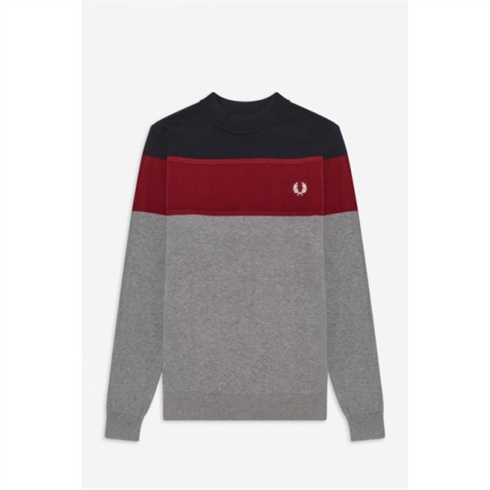 Fred Perry Strik Grå Panelled