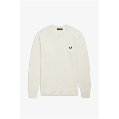 Fred Perry Strik Hvid Contrast Texture