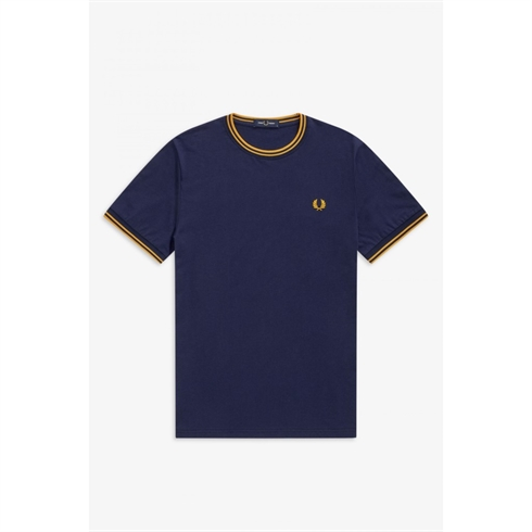 Fred Perry Twin Tipped T-shirt Marineblå