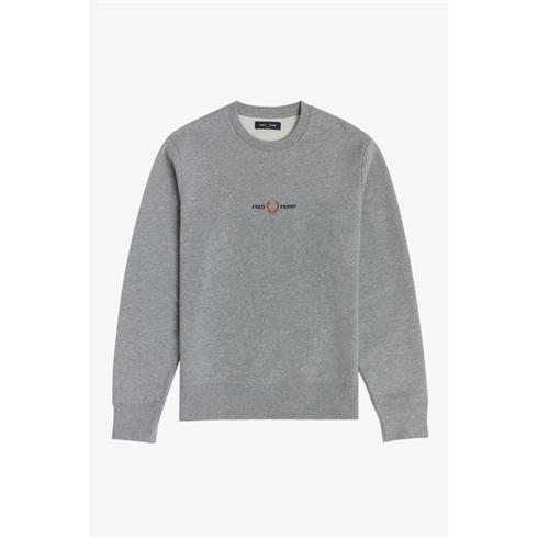 Fred Perry Sweat Grå Med Broderet logo
