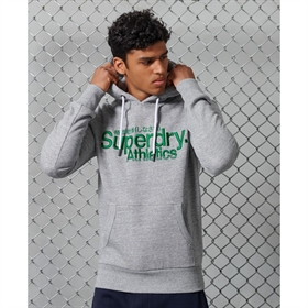 Superdry Core Logo Athletics Hoodie Grå