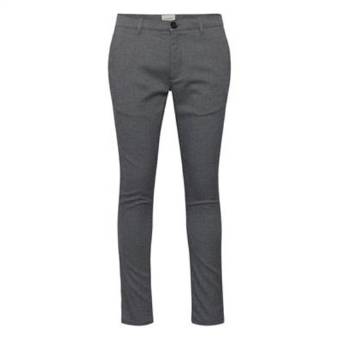 Tailored Pants Super Stretch Slimfit Grå m. tern Fred
