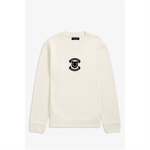 Fred Perry Shield Sweat Hvid