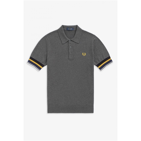 Fred Perry Strik Polo Grå