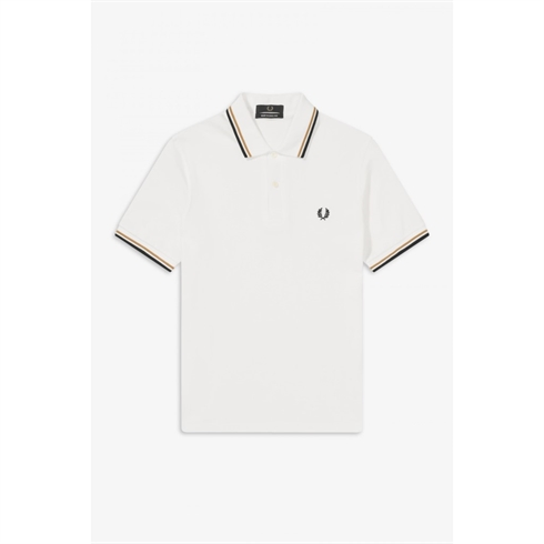 Fred Perry Twin Tipped Polo Hvid