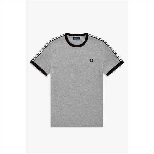 Fred Perry Taped Ringer T-shirt Grå