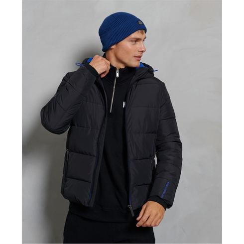Superdry Sports Puffer Jakke Sort