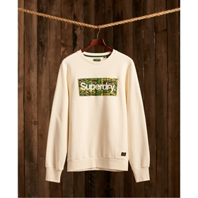 Superdry Logo Canvas Sweat Cream