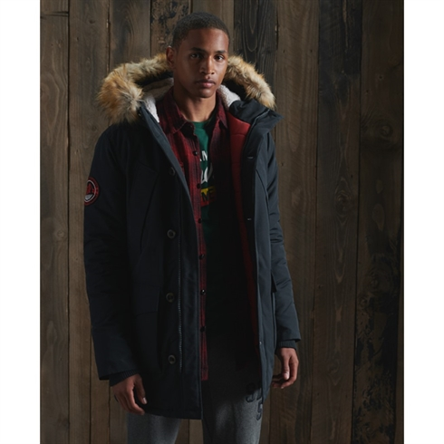 Superdry Everst Parka Jakke Navy
