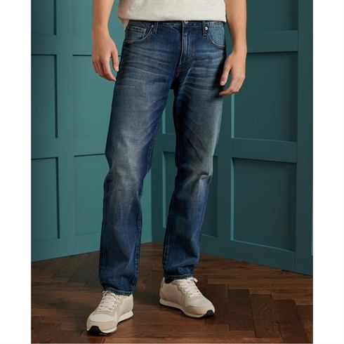 Superdry Tailored Straight Jeans Blå