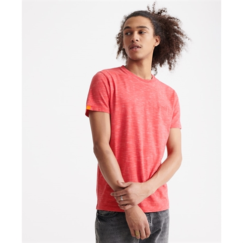 Superdry T-shirt-Orange Label Broderet Rød